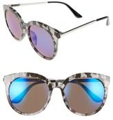 BP Women's 55Mm Round Sunglasses - Black/ Blue