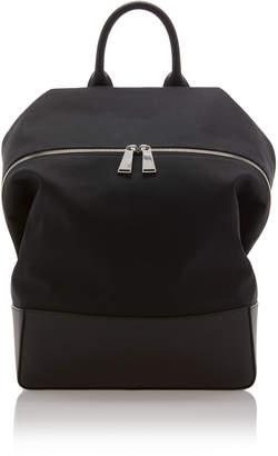 Bottega Veneta Leather-Trimmed Cotton-Canvas Backpack