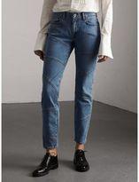 Burberry Slim Fit Seam Detail Japanese Denim Jeans