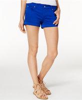 "Celebrity Pink Juniors' 3"" Cuffed Colored Wash Denim Shorts"