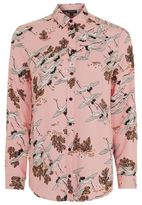Topshop Bird in flight print shirt
