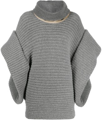 Gianfranco Ferré Pre-Owned 2007 Funnel Neck Knitted Poncho