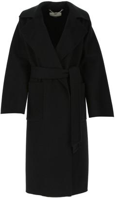 Elisabetta Franchi Belted Wrap Coat