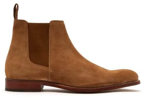 Grenson Declan Suede Chelsea Boots - Mens - Tan
