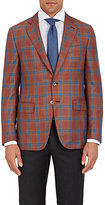 Isaia MEN'S WINDOWPANE-PLAID GREGORY SPORTCOAT-PINK SIZE 42 R