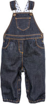 Petit Bateau Baby girl stretch denim overalls