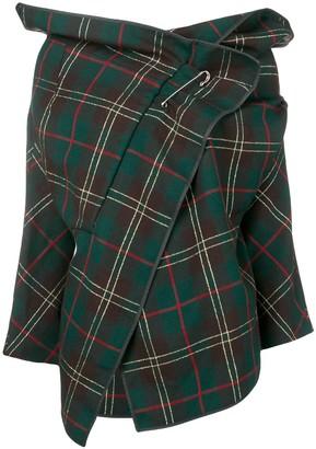 Comme Des Garçons Pre Owned 1999's Plaid Cropped Jacket