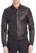 Paul Smith Gents Leather Bomber Jacket