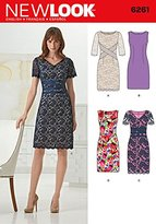 "Simplicity 6261 Size A 8/10/12/14/16/18 ""Misses' Dresses with neck line variations"" New Look Sewing Pattern"