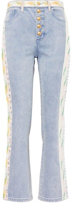 Tory Burch Ribbon Embellished Jeans