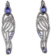Diamond and Tanzanite Wing Earrings