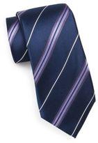 Saks Fifth Avenue 7-Fold Striped Silk Tie