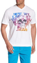 Robert Graham How We Laugh V-Neck Graphic Knit Tee