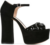 Marc Jacobs Adriana embellished platform sandals - women - Goat Skin/Leather/Goat Suede/plastic - 37