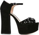 Marc Jacobs Adriana embellished platform sandals - women - Goat Skin/Leather/Goat Suede/plastic - 40