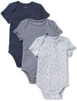 Gap Favorite starry short sleeve bodysuit (3-pack)