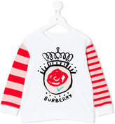 Burberry appliquéd long sleeve T-shirt