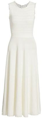Herve Leger Ruffle Midi Dress