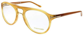 Tom Ford Women's Eyeglass Frames - Gold Modified Aviator Eyeglasses