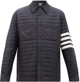 Thom Browne Four-bar Quilted Down Jacket - Navy