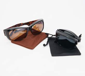 Foster Grant Haven Fits Over Set of 2 Color-Enhanced Sunglasses