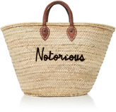 Poolside Shorty Embroidered Straw Tote