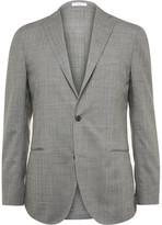Boglioli Grey Dover Slim-Fit Checked Wool Suit Jacket