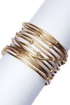 Rivka Friedman 18K Gold Clad Bold Satin Mina Cuff Bracelet