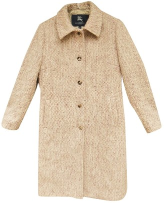Burberry Pink Wool Coats