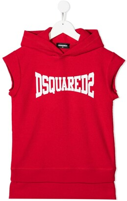 DSQUARED2 Logo-Print Sweatshirt Dress