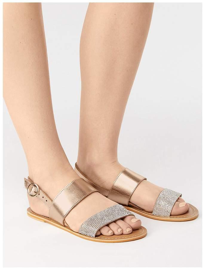Embellished Strap Pink Sandals Madrid Ankle ebIW2YDEH9