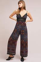 Love Sam Mosaic Lace-Trimmed Jumpsuit