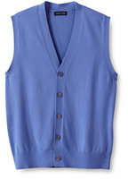 Classic Men's Performance Soft Sweater Vest-True Blue Tattersall