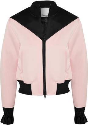3.1 Phillip Lim Two-toned Satin-trimmed Crepe Jacket