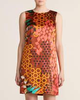 M Missoni Cinnamon Printed Silk Shift Dress