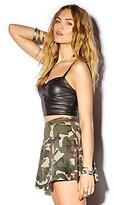Forever 21 Camouflage Skater Skirt