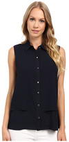 Ellen Tracy Sleeveless Double Layer Shirt
