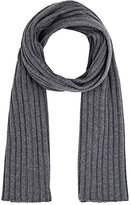 Barneys New York MEN'S WOOL-CASHMERE RIBBED SCARF-DARK GREY