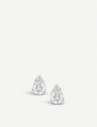 THE ALKEMISTRY Dana Rebecca Sophia Ryan 14ct white-gold and diamond stud earrings