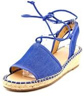 Franco Sarto Liona Open Toe Canvas Wedge Sandal.