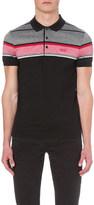 HUGO BOSS Striped cotton-jersey polo shirt