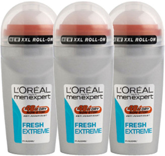 L'Oreal Men Expert Fresh Extreme Deodorant Roll-On (50ml) Trio