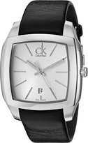 Calvin Klein Men's K2K21120 Recess Analog Display Swiss Quartz Black Watch