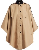 See by Chloe Wool-Blend Cape Trench Coat