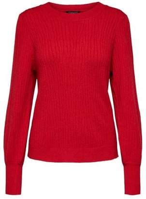 Selected Red Phillipa Ls Knit O Neck Top - M - Red
