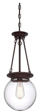 Birch LaneTM Heritage Glencoe 1 - Light Single Globe Pendant Birch Lane Heritage Finish: Oiled Burnished Bronze
