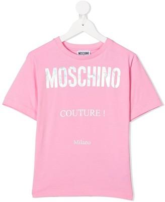 MOSCHINO BAMBINO logo print T-dhirt