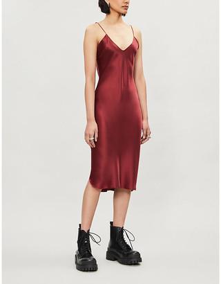 Nili Lotan V-neck silk midi dress