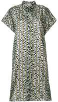 Forte Forte leopard striped shirt dress