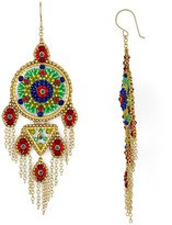Miguel Ases Round Fringe Drop Earrings